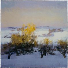 Fred Cuming -   Winter landscape. willows.