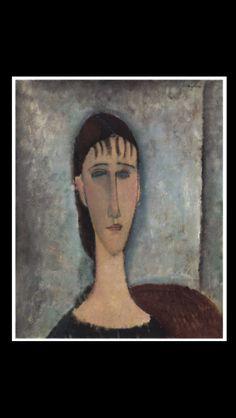 Amedeo Modigliani - Head of a Woman, c. 1918 - Oil on canvas - 54,5 x 43,2 cm