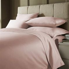 Hotel Living 1000 Thread Count Double Duvet Cover, Soft Pink