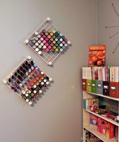 Hanging Craft Paint Storage - Mad in Crafts - tute coming soon