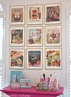 Framed Calendar Prints Tips for framing prints from wall calendars for gallery wall. The Creativity Exchange (Rifle Paper Co. calendar)Tips for framing prints from wall calendars for gallery wall. The Creativity Exchange (Rifle Paper Co. Big Blank Wall, Blank Walls, Home Design, Interior Design, Design Blogs, Room Interior, Interior Ideas, Print Calendar, Calendar Wall