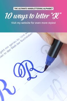 "10 ways to letter ""R""! more styles on my website. The videos shows some of the awesome letter s Creative Lettering, Lettering Styles, Brush Lettering, Hand Lettering For Beginners, Hand Lettering Tutorial, Hand Lettering Alphabet, Calligraphy Alphabet, Alphabet Art, Calligraphy Worksheet"