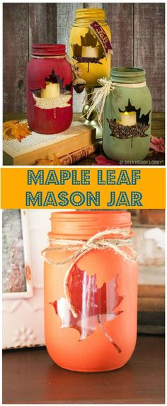 50 Unique DIY Mason Jar Crafts for Fall Decor - Page 3 of 10 - DIY & Crafts