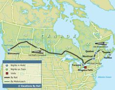 Across Canada by train - 14 day tour