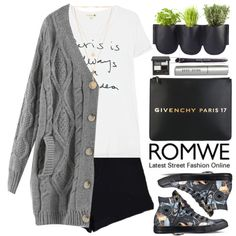 Romwe by oshint on Polyvore featuring moda, Sundry, Converse, Givenchy, Chloé, Bobbi Brown Cosmetics, Authentics and romwe