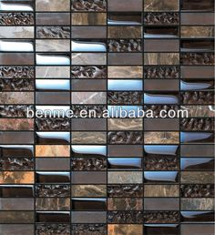 Dark color background crystal mix wall tile mosaic swimming pool tiles for sale decorative glass mosaic $9~$50
