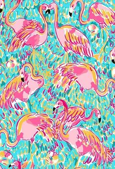 Lilly pulitzer flamingo print illustrations a lilly prints l Lilly Pulitzer Patterns, Lilly Pulitzer Prints, Flamingo Print, Pink Flamingos, Flamingo Nursery, Flamingo Party, Wall Paper Phone, Fashion Wallpaper, Binder Covers