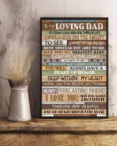 Perfect Gifts To My Husband Poster Great Gifts For Wife, Perfect Gift For Dad, Love Gifts, Dad Gifts, Family Presents, Gifts For Family, Watch Display Case, Love Dad, Gsm Paper