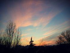 last sunset of a tired autumn...  #sunset #autumn #beautiful #calmness