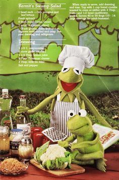 Kermit's Swamp Salad | Jim Henson's Muppet Picnic Cookbook (published by Hallmark Cards 1981)