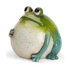 Big Belly Ceramic Frog in Garden Statues