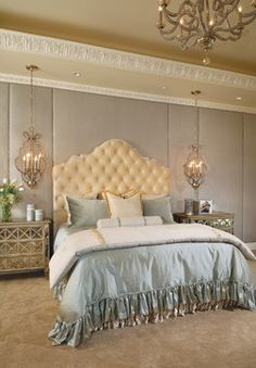 Bedside Hanging Chandeliers Design Ideas, Pictures, Remodel, and Decor