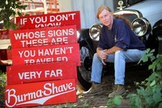 famous Burma Shave signs along the roads
