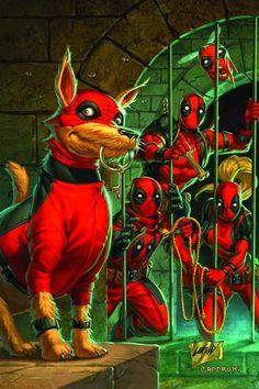 Deadpool Corps. Marvel comics.