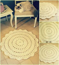 crochet mandala rug