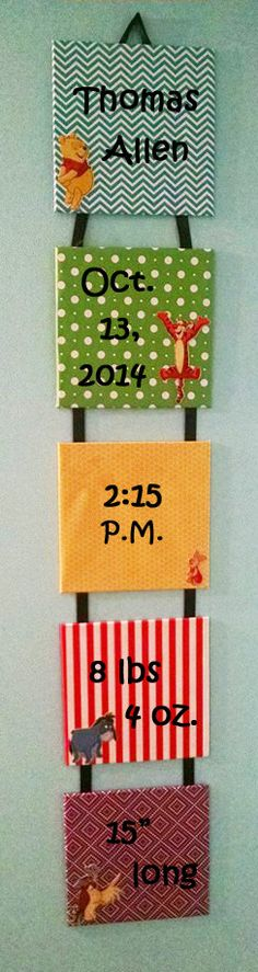 Hey, I found this really awesome Etsy listing at https://www.etsy.com/listing/213693436/baby-announcement-hanging-wall