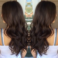 Long Wavy Ash-Brown Balayage - 20 Light Brown Hair Color Ideas for Your New Look - The Trending Hairstyle Caramel Ombre Hair, Brown Ombre Hair, Brown Hair Balayage, Ombre Hair Color, Light Brown Hair, Brown Hair Colors, Dark Hair, Dark Brown Hair Rich, Coffee Brown Hair