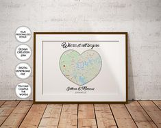 Trendy Printable Art / Designer Wall Decor / Art by PrintsPhotoTK Anniversary Gifts For Couples, Paper Anniversary, Anniversary Dates, Boyfriend Anniversary Gifts, Personalized Couple Gifts, Relationship Gifts, Wedding Gifts For Couples, Custom Map, Map Wall Art
