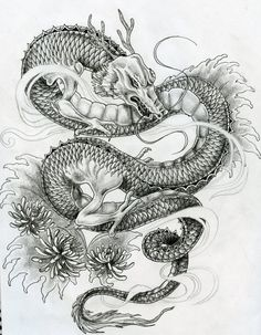 Vintage Dragon Tattoos for Men