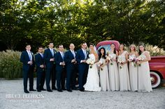 A beautiful wedding party toasting the happy couple! Photo by Bruce Plotkin.