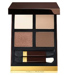 TOM FORD Eye Colour Quad in 'Cocoa Mirage'. I swiped this from my mother who bought it but never seemed to use it. The eyeshadows are of very luxurious quality and have better staying power than cheaper eyeshadows.