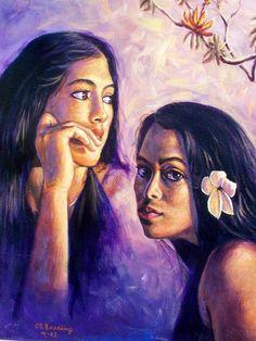Pacific Islanders Painting - ed breeding