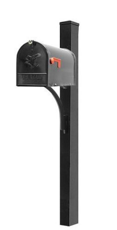 "Brandon Industries, Inc.-Front Mount Classic Mailbox Unit-4"" Square Pole by Brandon Industries, Inc.. $193.00. Oversized steel Classic rural mailbox unit with cast aluminum decorative bracket. 4"" OD smooth square mailbox post. Direct burial installation"