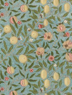 Buy Sanderson Wallpaper, Morris & Co Fruit, Slate / Thyme, 210396 online at JohnLewis.com - John Lewis