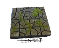"""A set of four (4) Large Floor Tile pieces to go with your mine. Each piece is handmade and painted to order. The detailed tile includes a stone pattern texture for the floor.  Every piece included in the set has a 4"""" by 4"""" footprint and cast as a single piece. Sets are available in both resin and durable hydrostone compound and compatible with all DragonStone, Dwarven Forge, Hirst Arts and dungeonstone builds."""