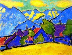 Alexei Jawlensky - Yellow Sound (1908)