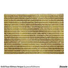 Gold Faux Glittery Stripes Doormat
