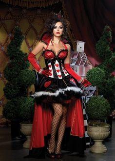 BL2 Ladies Queen of Hearts Alice In Wonderland Costume