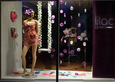 lingerie window displays | May 2011 - Lilac Lingerie summer window display | Flickr - Photo ...