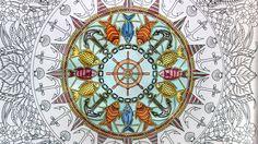 How I Color : Ocean Mandala Part 1 | Lost Ocean Coloring Book