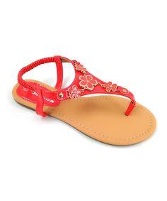 Coral T-Strap Sandal