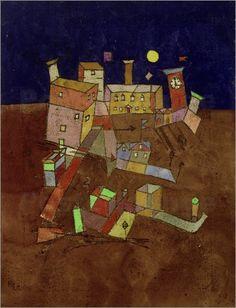 """Bild von Paul Klee - """"Partie aus G."""""""