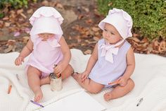 Bettye Bloomer Set - Lauderdale Lavender Seersucker | The Beaufort Bonnet Company