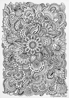 Coloring Pages For Grown Ups, Flower Coloring Pages, Coloring Book Pages, Unique Coloring Pages, Mandala Art Lesson, Mandala Drawing, Drawing Flowers, Doodle Coloring, Mandala Coloring