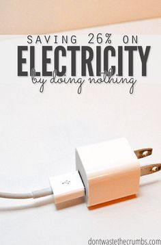 An easy way to save money One of my favorite budget tips - we saved 26% on electricy with this one trick! Tried and true money saving idea that's kept our utility bill low even years later! :: DontWastetheCrumbs.com