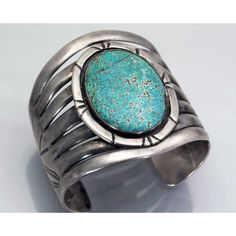 EARLY #8 Turquoise Silver Bracelet, Navajo, fcirca 1900-1950, hand forged and stamped on ingot coin or better silver.