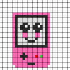 GameBoy Color Face Perler Bead Pattern   Bead Sprites   Misc Fuse Bead Patterns