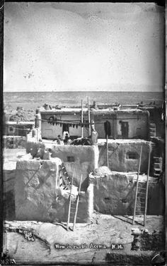 """Native Americans - Collections - Google+  """"View in Acoma Pueblo, New Mexico"""". 1880-1890. Photo by Ben Wittick."""