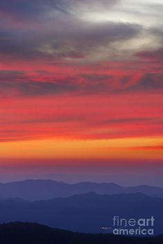 ✯ Beautiful Sunset over the Blue Ridge Mountains from atop Mt Mitchell