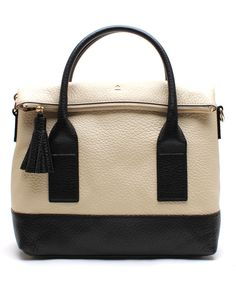 Look what I found on #zulily! Kate Spade Buttermilk & Black Linda Southport Avenue Leather Tote by Kate Spade #zulilyfinds