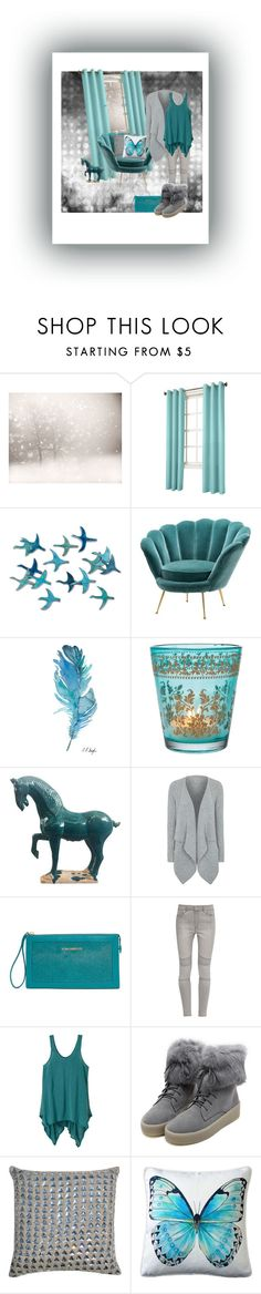 """""""Teal and grey"""" by kristina-sandvig on Polyvore featuring Lichtenberg, Eichholtz, Cultural Intrigue, George, Vera Bradley, French Connection, prAna, WithChic, Pillow Decor and polyvorecontest"""
