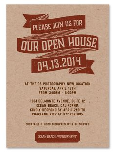 business open house invitation