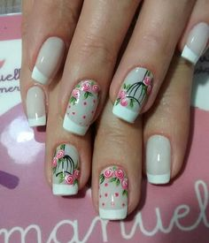 Get Nails, Love Nails, French Nail Designs, Nail Art Designs, Finger, Nail Care Tips, Flower Nail Art, Manicure E Pedicure, Beautiful Nail Art