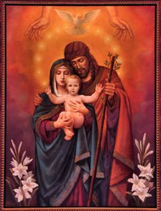 Holy Family Icon..beautiful picture...