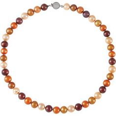 """Sterling Silver Freshwater Cultured Dyed Chocolate Pearl 18"""" Necklace"""