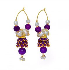 Trendy Bollywood Designer Pachi Jhumki With Bali Earrings / AZINHZ016-GPU -- Awesome products selected by Anna Churchill